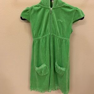 Juicy Couture Size 12 Green Short Sleeve Dress